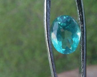 Gorgeous Natural 1.32ct Oval VS Paraiba Blue Madagascar Apatite