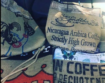 Coffee bean tote bags