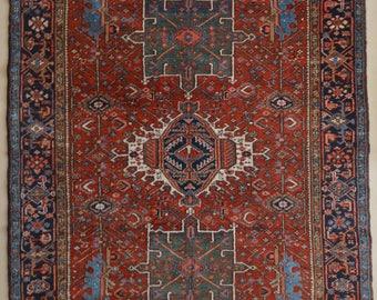 Fine Antique Persian Karaja Rug - 5x6