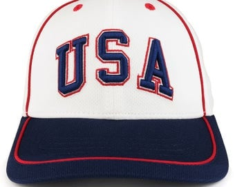 Lightweight Cool Jersey Mesh Cap with USA 3D Embroidery (WR100)