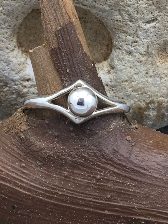 Handcrafted Sterling Silver Ring with St. Sil. Ball.