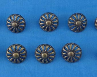 10 vintage KBC brass drawer pulls , 2489L, for wood working projects and crafts-111