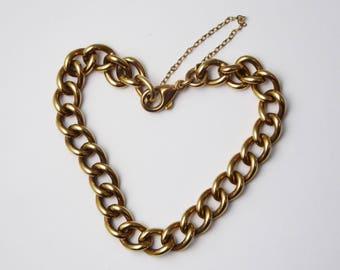 Vintage C1980s 9ct Yellow Gold Charm Bracelet