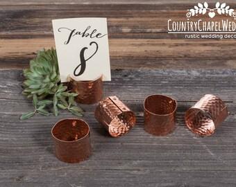 Copper Card Holder ~ Menu Number ~ Guest Place Card Holder ~ Copper Placecard Holder ~ Copper Wedding ~ Card Holder ~ Industrial Wedding