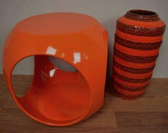 Vintage side table / table / corner table / Cube | Panton Era | Space Age | Germany | 70s