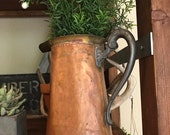 RESERVED FOR P. CREEK:  Antique Copper Pitcher
