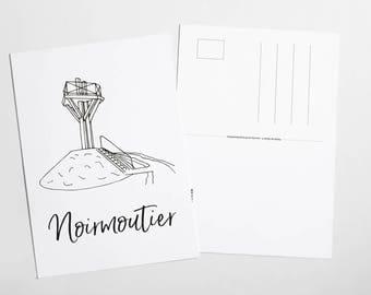 Postcard Noirmoutier - the Gois Passage
