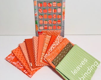 "Pumpkins Quilt Kit with Pattern by Cluck Cluck Sew for Moda- Finished Size 58"" x 72"""