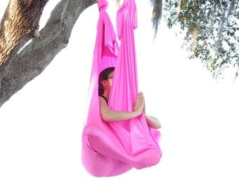 Quick Ship - Hot Pink (Blacklight Reactive) - Aerial Yoga Hammock