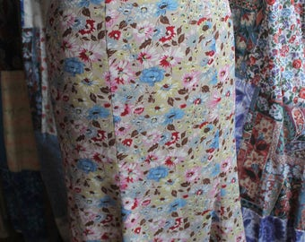 Flared lined FLORAL SKIRT ref604
