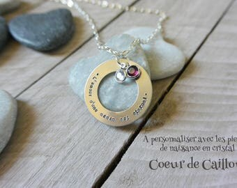 """The love of a MOM"" personalize necklace"