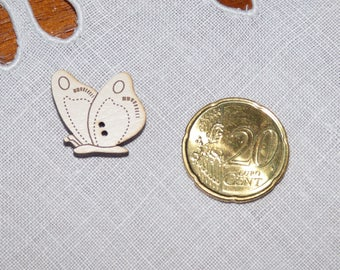 Ivory wood Butterfly Pose collar button