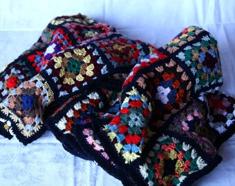 Plaid Patchwork squares of wool