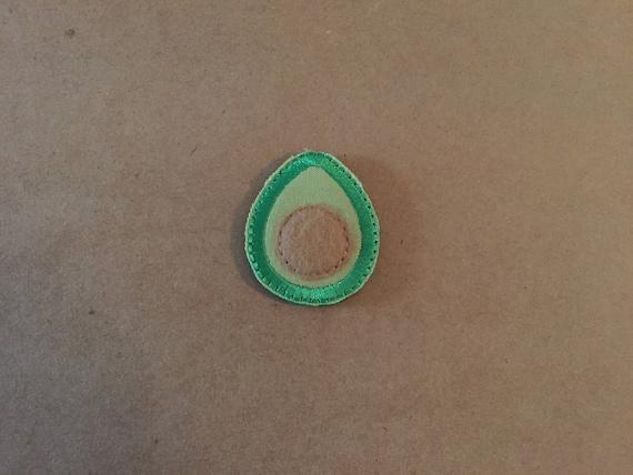 Avocado Feltie, Avocado Embellishment. Choose 1, 2 or 4