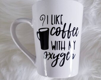 Gilmore girls mug*Gilmore girls coffee* coffee mug* I like my coffee with oxygen* stars hollow* connecticut* Lorelei Gilmore * Gilmore girls