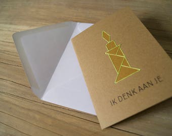 Greeting cards tangram 10-pack