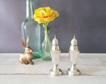 Regent Sterling Salt and Peper Shakers/ Sterling Salt and Pepper Shaker/ Weighted Sterling/ Sterling Silver shakers/ Vintage Salt and Pepper