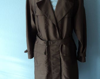 French vintage Expresssion by Claude Havrey Paris ladies stylish trench coat / mac UK size 16