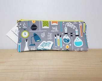 Back to School - Planner Accessory - Pencil case - Zipper pouch - Gifts under 10 - Student Teacher Gift - Organizer - Pen pouch