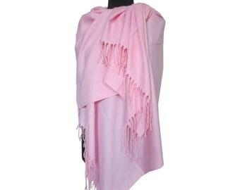 Pink Scarf, Plain Pashmina, Christmas Gifts for Women, Pashmina Scarf, Fashion Shawl, Pink Long Pashmina, Gift for Girlfriend
