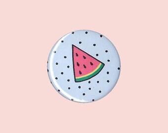 Watermelon Badge - watermelon pin, watermelon button, melon pin, summer pin, trendy pin