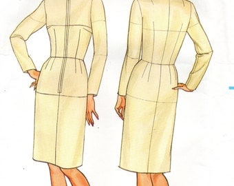 1980s Butterick Sewing Pattern 3415 Fitting Shell Dress Size 10