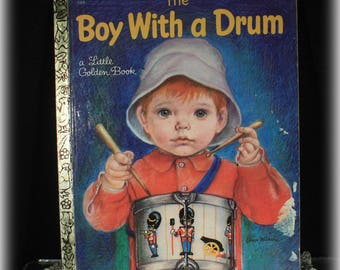 1969 1st Edition Boy With a Drum Little Golden Book