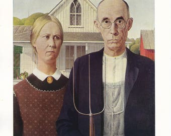 Modern American Painting - American Gothic - Grant Wood