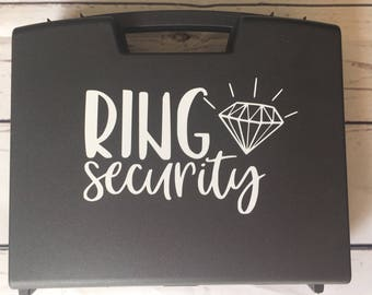 Ring security ring bearer briefcase prop ring pillow