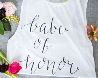 Maid of Honor Tank Top, Bachelorette Tank Top, Babe of Honor Tank Top