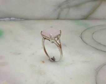 Sliver lavender jade ring