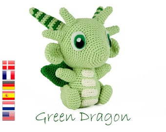 Crochet pattern Green Dragon