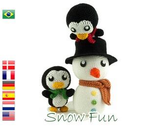 Crochet pattern Snow Fun