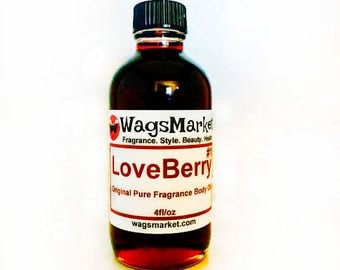 Loveberry#1, 1oz Glass Bottle, Pure Fragrance Oil