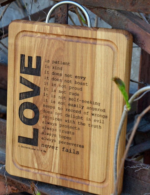 5th anniversary easter gift for wife wooden cutting board love like this item negle Choice Image