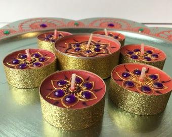Set of 6, scented tea lights/ wedding decor/ home decor /Christmas decor/party favors/holiday decor/ Christmas candles/holiday centerpiece