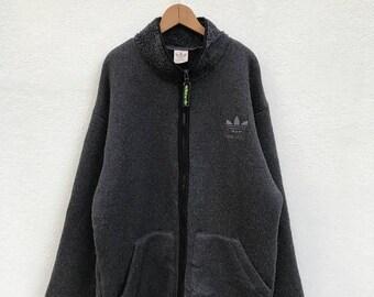 20% OFF Vintage Adidas Fleece Zipper Jacket,Adidas Pullover Sweater,Hiphop,Swag,Adidas Multi Color Sweater