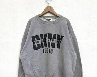20% OFF Vintage Dkny Usa Big Logo Sweatshirt / Dkny Sweater / Dkny Sweatshirt / Dkny Spell Out / DKNY New York