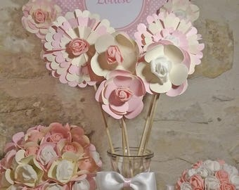 set of 5 flowers for table decoration