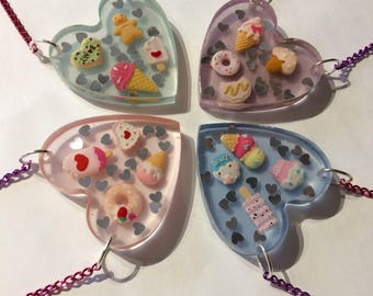 Decora Resin Heart Necklace