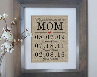 Mothers Day Gift Personalized, Mother's Day Gift from Daughter, Mom Gift from Son, Birthday Gifts for Mom, Gift for Mom, Mom Gift from Kids