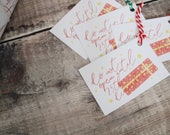Do Not Open Until 25th December Gift Tags - Christmas Gift Wrap - Gift Wrap Labels - Illustrated Gift Wrap - Don't Open - December 25th