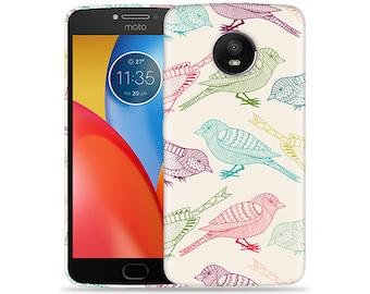 Motorola Moto E4 Case - Motorola E4 Case #Flock Of Colors Hard Phone Cover