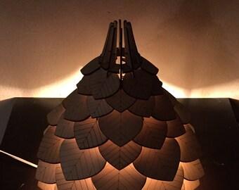 Table lamp - shade - lighting - laser cut lamp - lamp - wood lamp - home decor