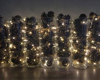 Rustic Wedding, Copper Wire Fairy lights, Wedding table decor, Barn wedding decor, Event Lighting, Battery Operated, 12ft 60 Leds