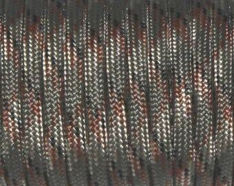 30 feet of Paracord 4mm Olive Camo green ideal for survival bracelets