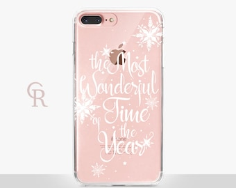 Christmas iPhone 7 Case Clear  - Clear Case - For iPhone 8 - iPhone X - iPhone 7 Plus - iPhone 6 - iPhone 6S - iPhone SE Transparent