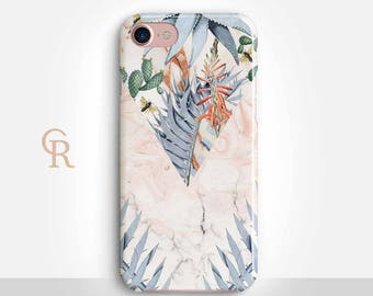 Floral Marble Phone Case Case For iPhone 8 iPhone 8 Plus - iPhone X - iPhone 7 Plus - iPhone 6 - iPhone 6S - iPhone SE - Samsung S8 iPhone 5