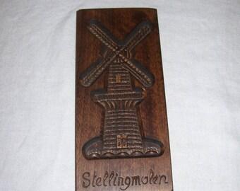 Windmill Cookie Press Biscuit Press Wall Hanging  Wood  Stellingmolen Vintage