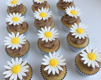 Daisy Cupcake Toppers (12)
